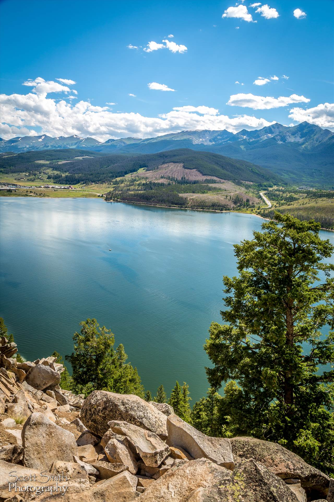 Lake Dillon from Sapphire Trail -  by D Scott Smith