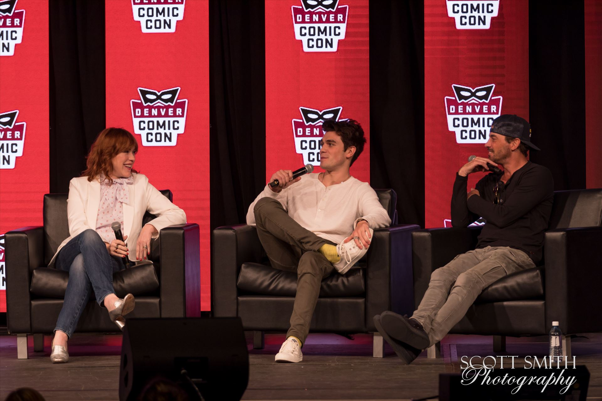 Molly Ringwald, JK Apa, and Skeet Ulrich at Denver Comic Con 2018 -  by D Scott Smith
