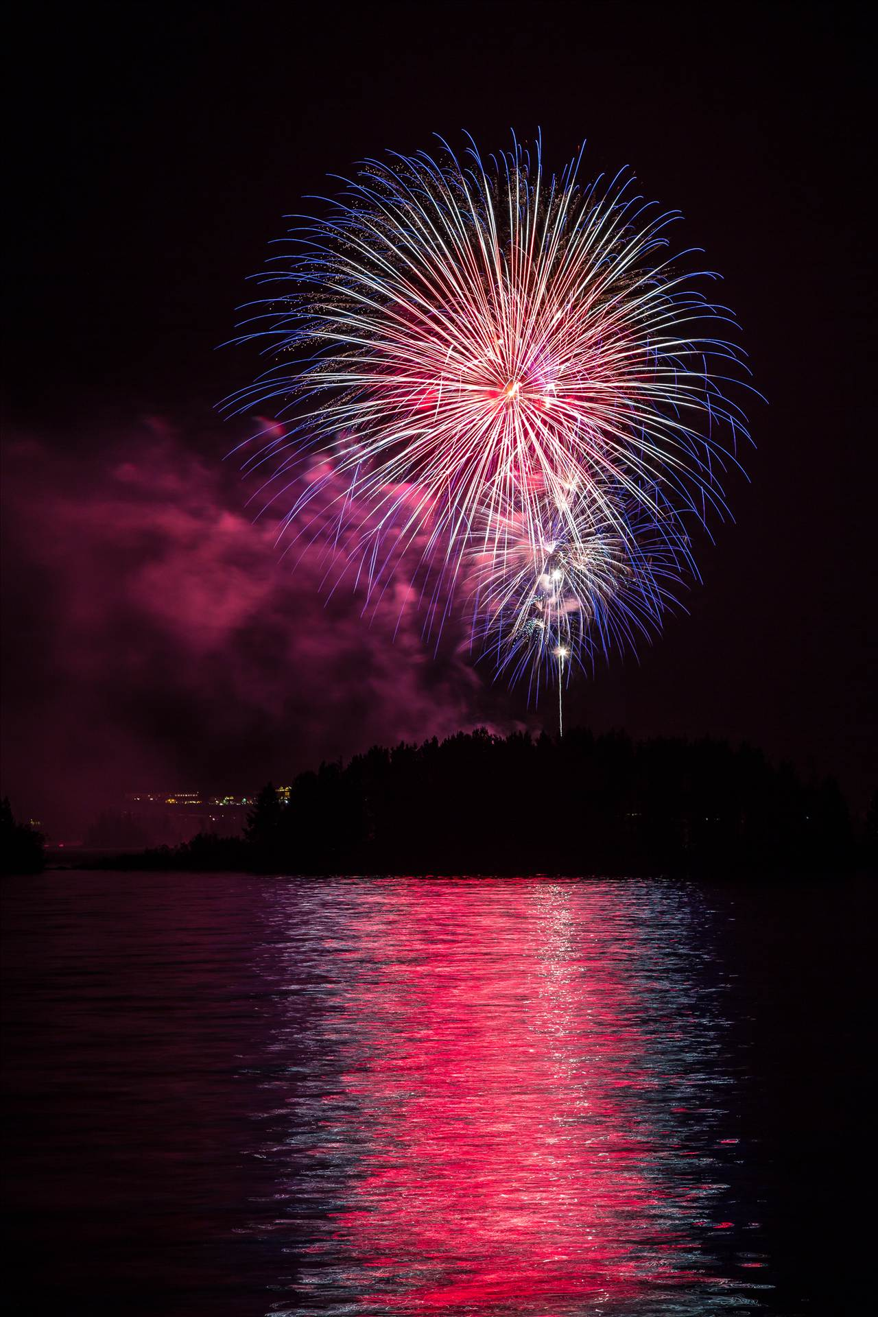 Dillon Reservoir Fireworks 2015 24 -  by D Scott Smith