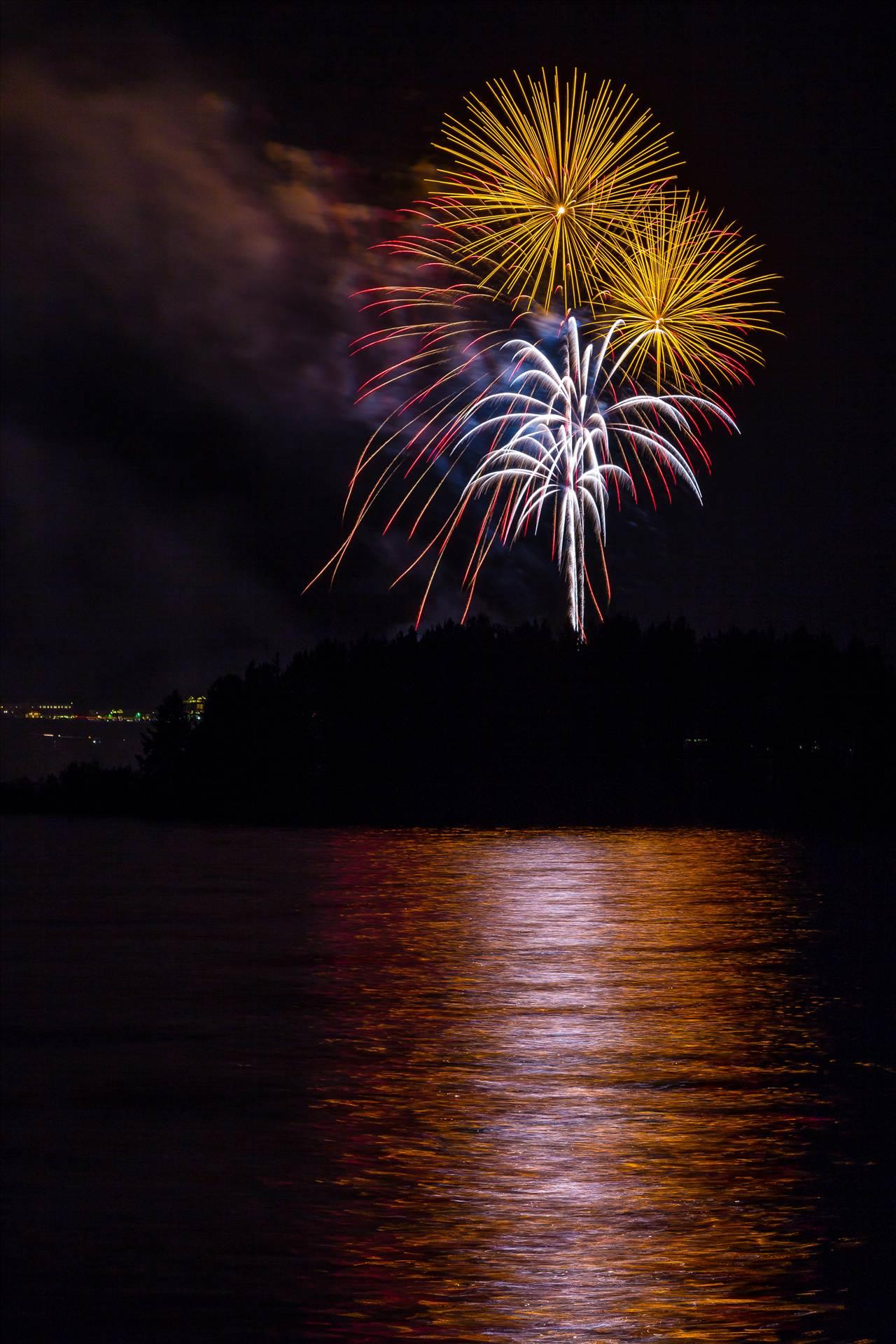 Dillon Reservoir Fireworks 2015 44 -  by D Scott Smith