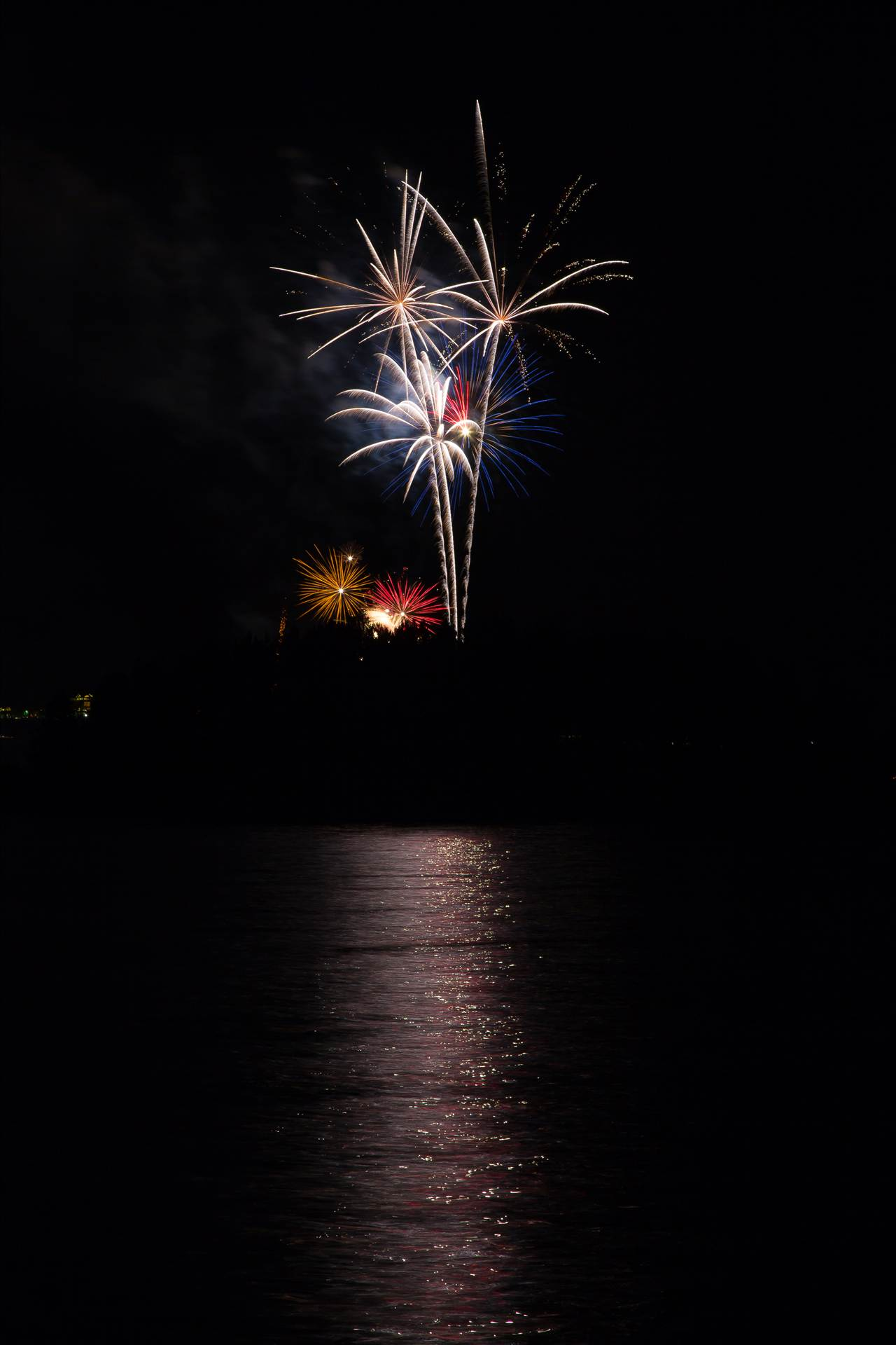 Dillon Reservoir Fireworks 2015 46 -  by D Scott Smith