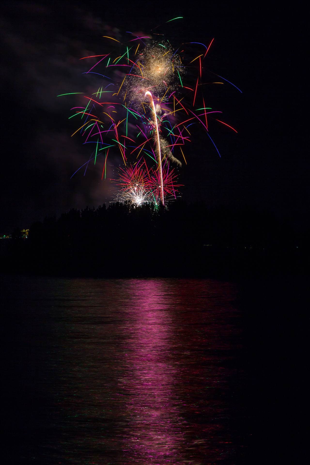 Dillon Reservoir Fireworks 2015 39 -  by D Scott Smith