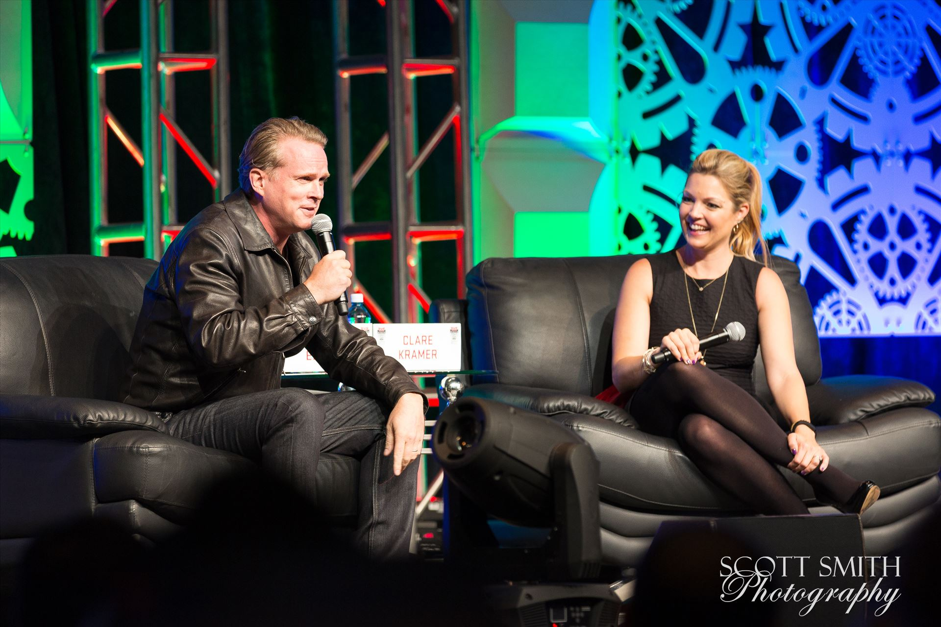 Denver Comic Con 2016 27 - Denver Comic Con 2016 at the Colorado Convention Center. Clare Kramer and Cary Elwes. by D Scott Smith