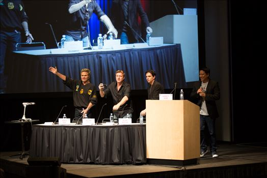 Denver Comic Con 2016 34 - Denver Comic Con 2016 at the Colorado Convention Center. Garrett Wang, Ralph Macchio, Martin Kove and William Zabka.