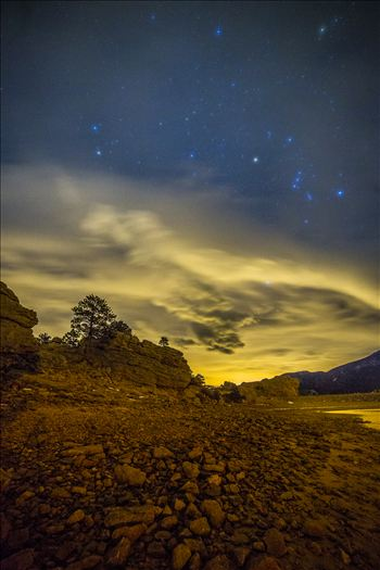 Another long exposure from the shore of Mary's Lake a few miles near Estes Park, looking east towards Denver.