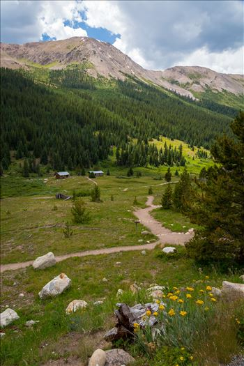The ghost town of Independence, on Independence Pass, Colorado. Once a thriving community of 1,500, only a few structures remain, but is maintained by the National Historical Society.