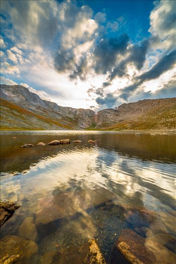 Summit Lake, near the summit of Mt Evans, Colorado.