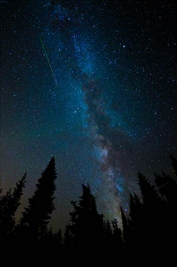Preview of Milky Way and Meteorite from the Perseids