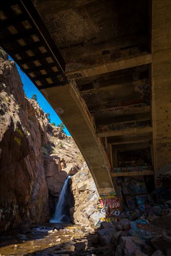 Rainbow Falls, also known as Graffiti Falls, in Manitou Springs, Colorado.