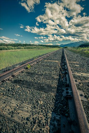 Railroad tracks outside of Leadville, Colorado.