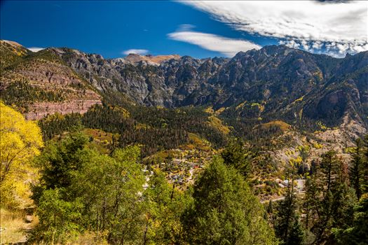 The scenic town of Ouray, Colorado, inspiration for Galt's Gulch in Ayn Rand's Atlas Shrugged, is nestled in a valley in the Rocky Mountains.