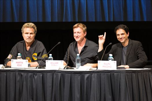 Denver Comic Con 2016 38 - Denver Comic Con 2016 at the Colorado Convention Center. Garrett Wang, Ralph Macchio, Martin Kove and William Zabka.