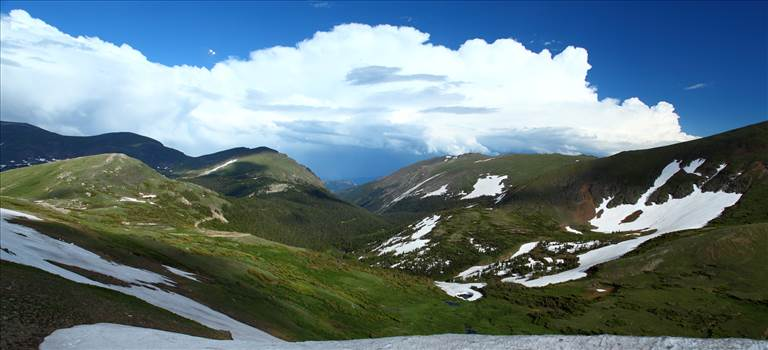 From the top of Trail Ridge Road, in Rocky Mountain National Park.