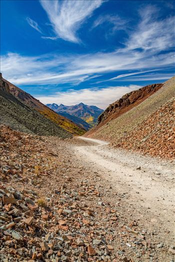The summit of Ophir Pass, between Ouray and Silverton Colorado in the fall.