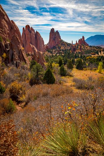 The spires at the Garden of the Gods.