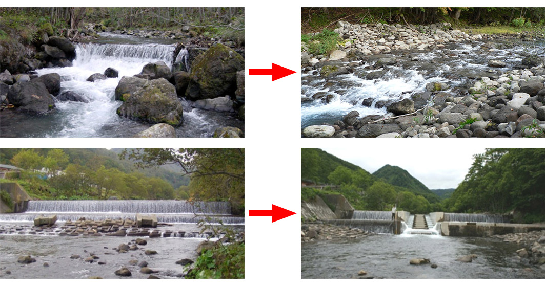 Japan Dam Removal Comparisons Before and After