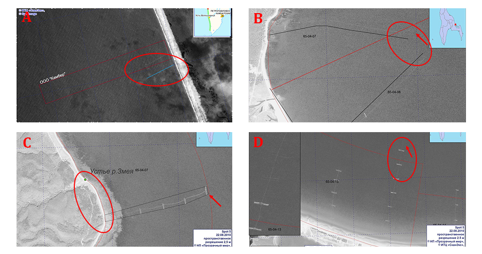 Satellite Images of IUU and Poaching in Russia