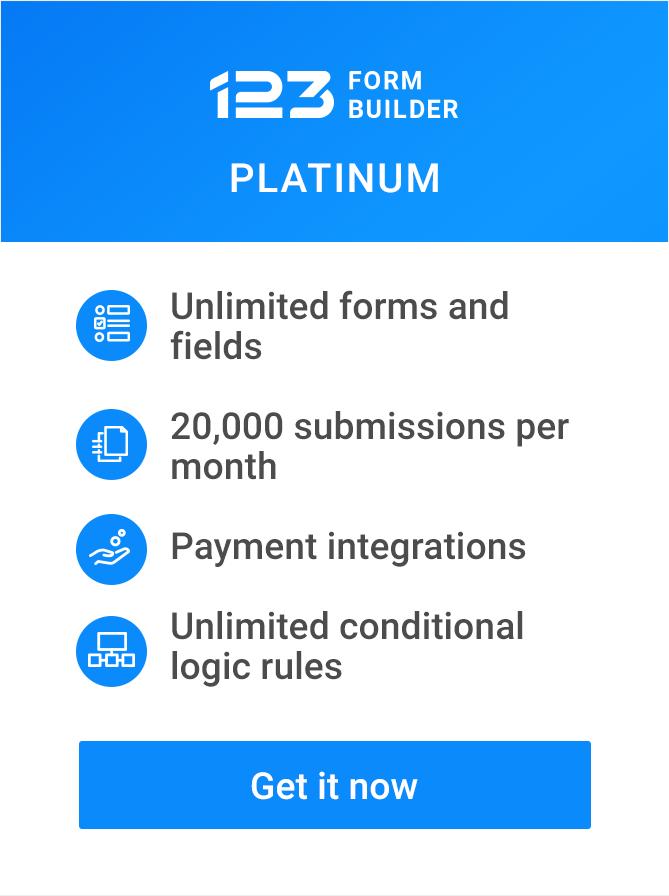 123PLATINUMBTN Online Form Builder Mailchimp on business website, lego world,