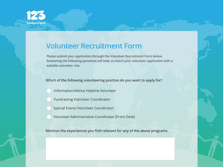 volunteer recruitment form template