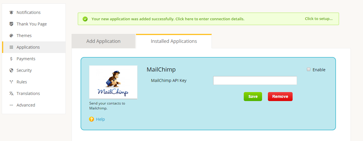 mailchimp integration 3rd party app