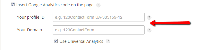 tracking form visitors with google analytics