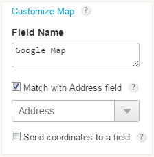 match address with google map on form
