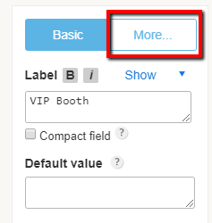 changing form label name and going to advanced field settings