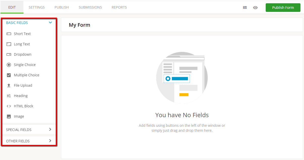 123formbuilder form fields
