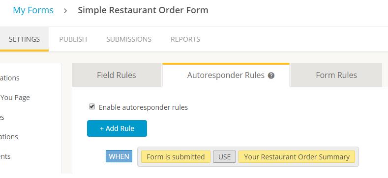 conditional logic autoresponder forms