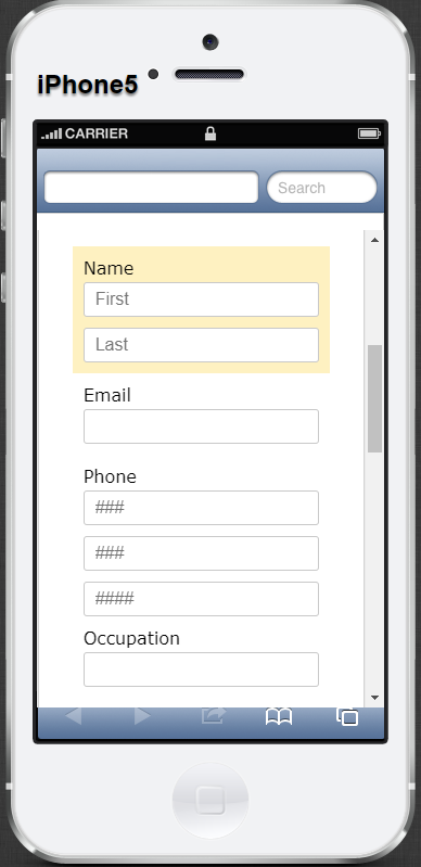 complex web forms best practices - mobile responsiveness