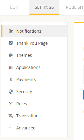 setting up your form with notifications