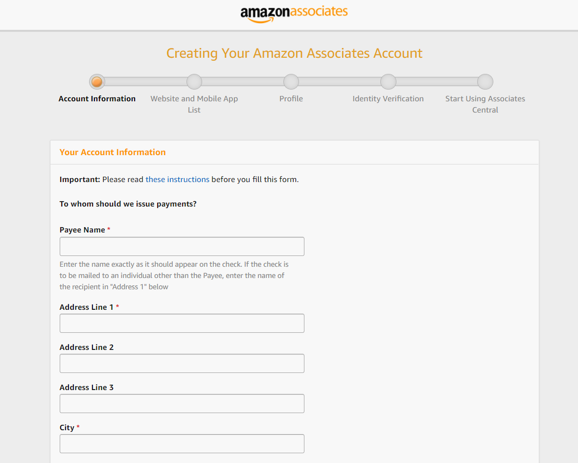 multiple page form created on amazon associates for increased conversions