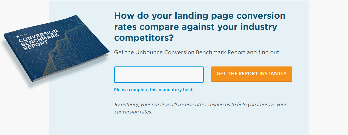 unbounce conversion benchmark report  lead form