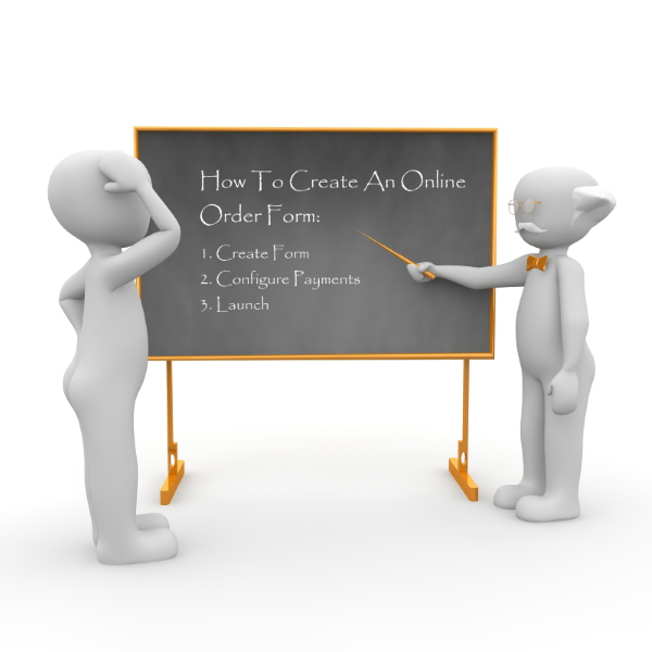 how to create an online order form