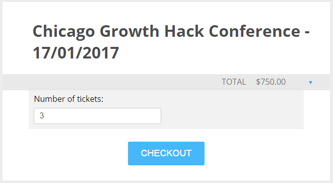 simple conference payment form