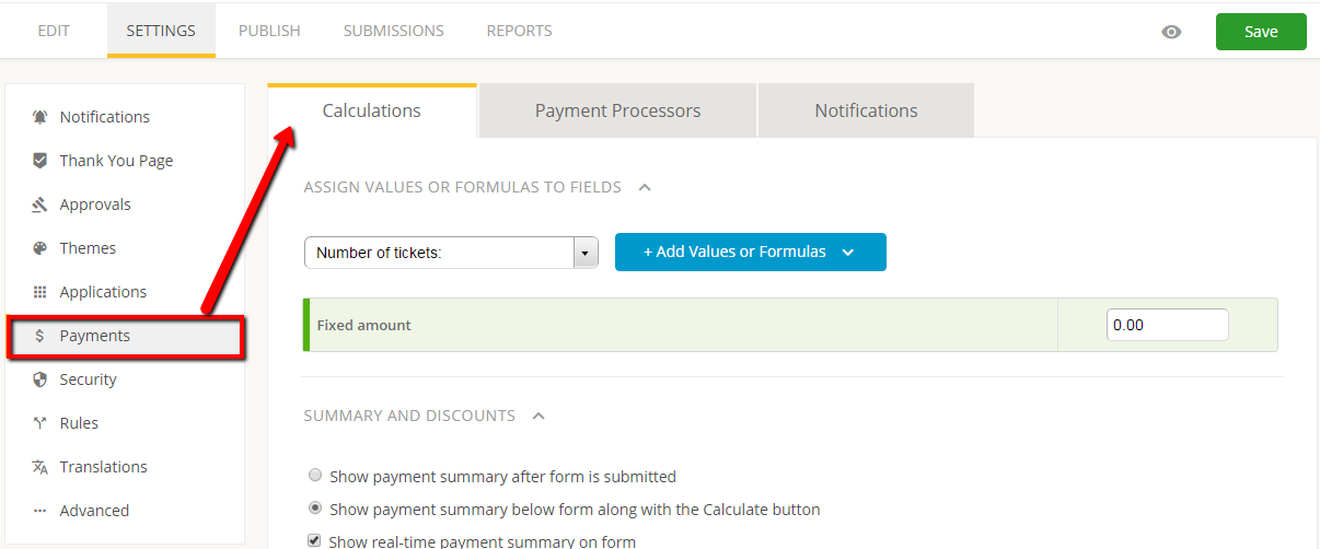 order form with multiple paypal accounts - payment calculations