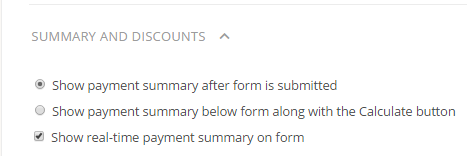 creating a donation form - adding real-time payment summary