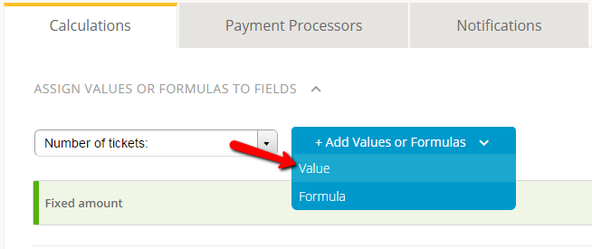 payment forms with multiple paypal accounts - assigning price to number field