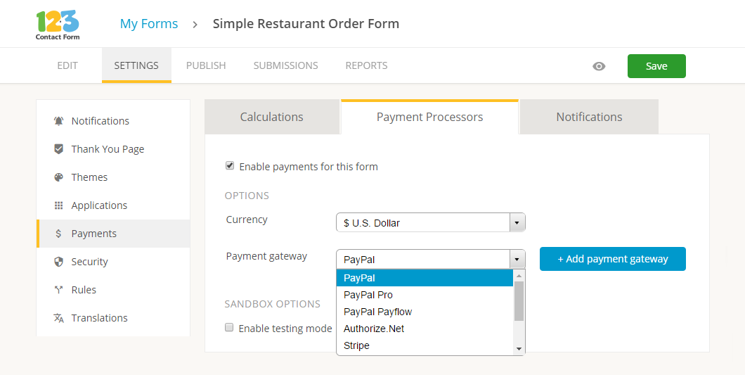 payments integration