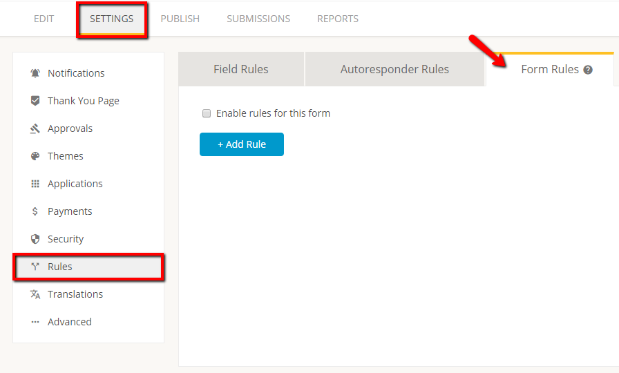 payment forms - creating conditional logic