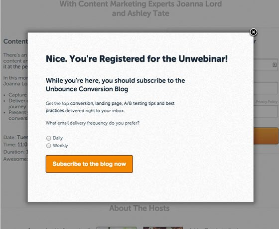 how unbounce increases conversion rate with thank you pages