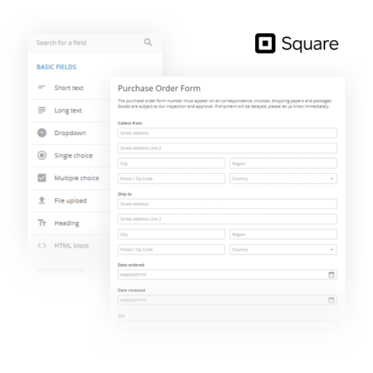 square order form editor