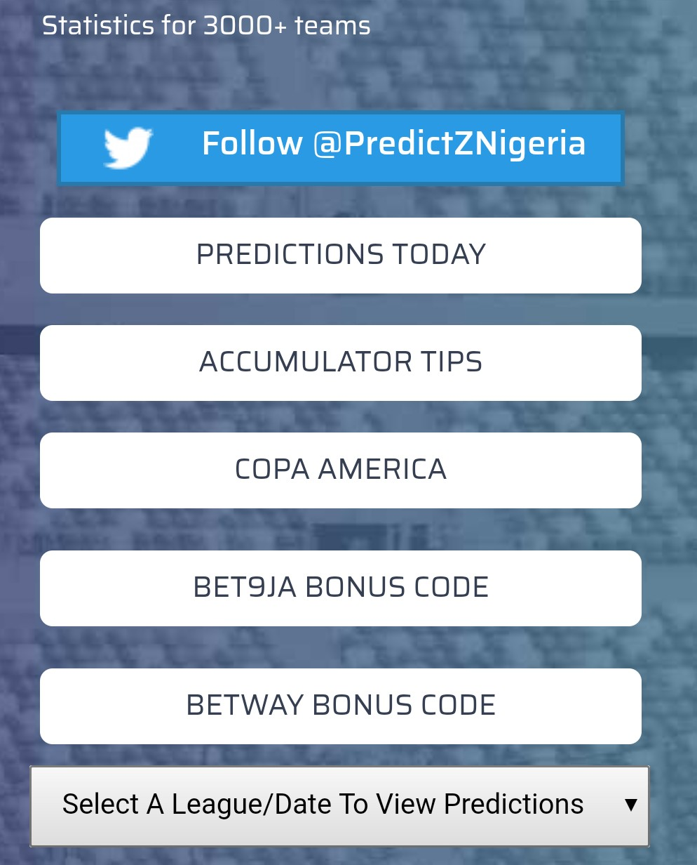 predictz prediction today/betting