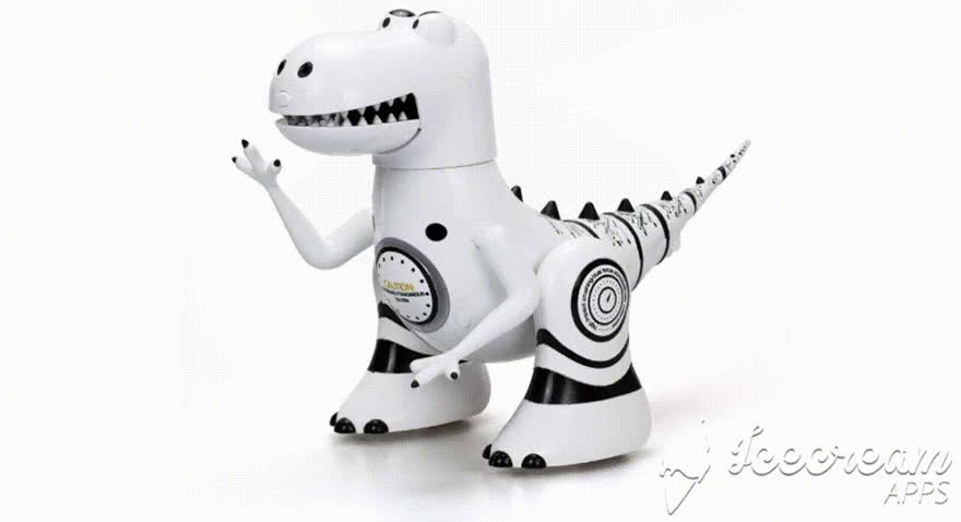 Robosarus - Robot Dino with emotions, mood sensor and sound