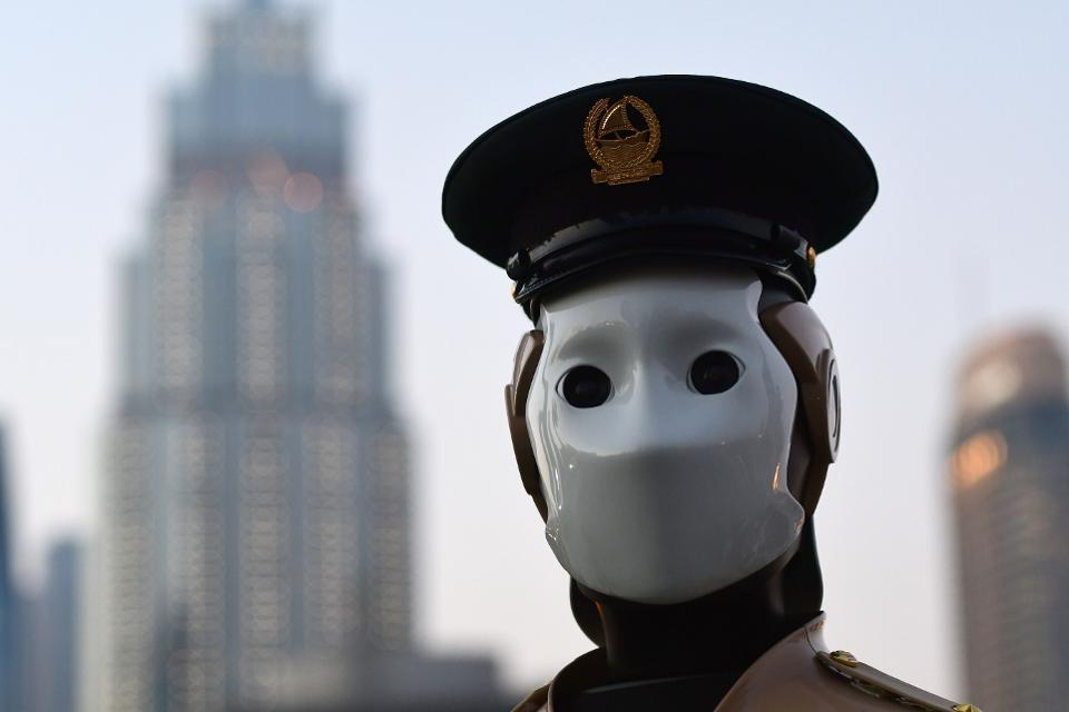 Robots Entering Police Force and Interviewing Humans for Jobs