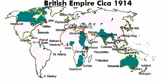 BRitish Empire Circa 1914