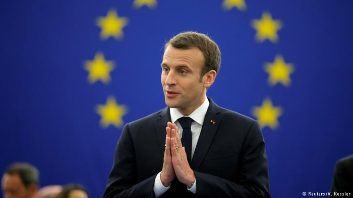 """FRANCE'S MACRON CALLS FOR EUROPE TO EMBRACE THE EU AND REJECT """"NATIONALISM"""""""
