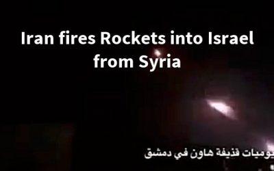 IRANIAN AND ISRAELI FORCES EXCHANGE ATTACKS ACROSS ISRAELI-SYRIAN BORDER