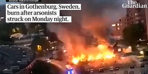 MASS ARSON ATTACKS HITS SWEDISH CITIES