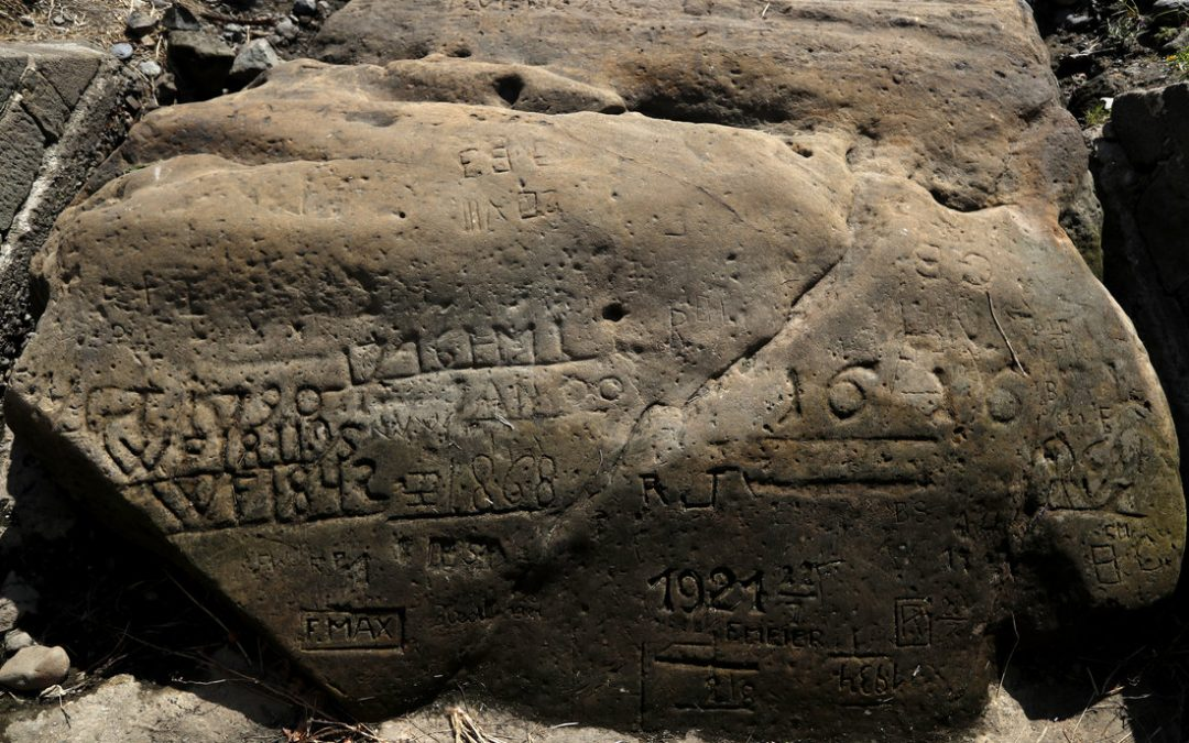 """""""HUNGER STONES"""" REVEAL EXTENT OF CURRENT EUROPEAN DROUGHT"""